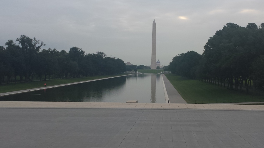 A quiet morning at the Reflecting Pool.